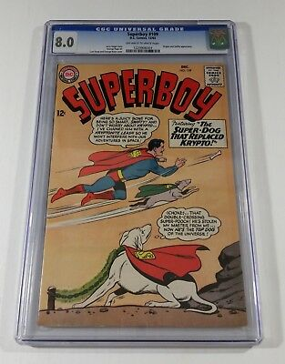 Superboy #109 DC Comics 1963 CGC 8.0 Krypto and Swifty Super Dog