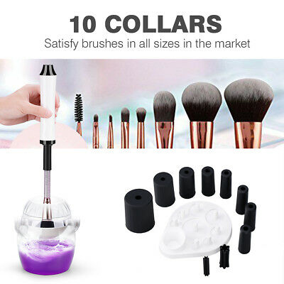 360°Rotation Electric Makeup Cosmetic Brush Cleaner Dryer Machine Clean Tool Kit