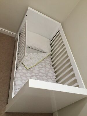 Cot / Cotbed White High Gloss By Kidsmill Nursery Baby Next Somero