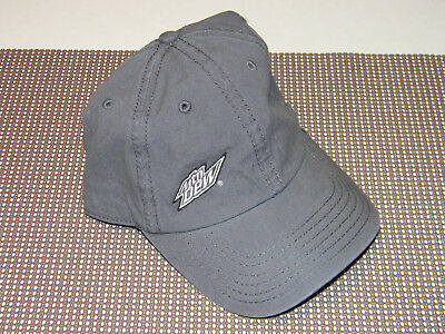 Mountain Dew Hat Every 60 Seconds Otto Gray Adjustable One Size Fits Most NEW