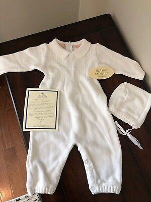Boutique Baby Boy Christening or Baptism Outfit - 3M - NWT