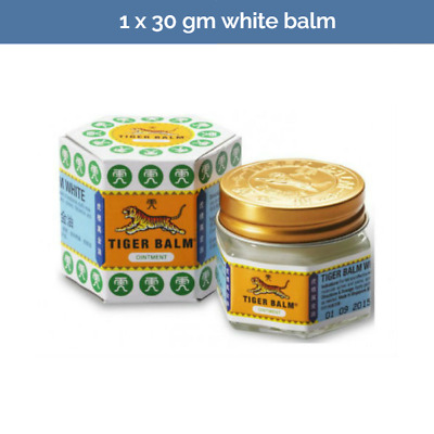 TIGER BALM White Ointment for relief of headaches and nasal congestion 30g