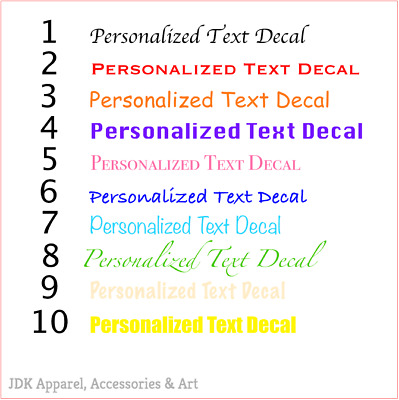 CUSTOM TEXT Personalised Name Lettering Funny Car/Van/Window Shop Decal Sticker