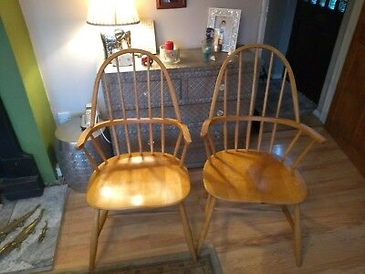 Vintage Ercol? Chairs X 2 Carvers
