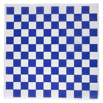 12 x 12 Deli  Wax Paper Sheets (Pack of 100) Blue Check - Made in USA
