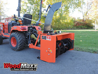 """WOODMAXX SB-48 PTO Snow Blower 72"""" (FREE SHIPPING to the lower 48 States)."""