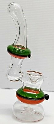 "Collectible Tobacco Glass Water Pipe Bong Bubbler Hookah Rig 7.5""Inch"