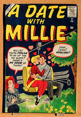 A DATE WITH MILLIE #3, SILVER AGE 1960, Male Publishing Corp. (Marvel), VG