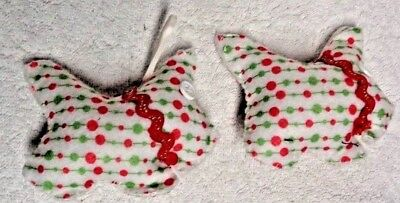 Scotty Scottie Dog Red And Green Dots Ornaments Set of Two