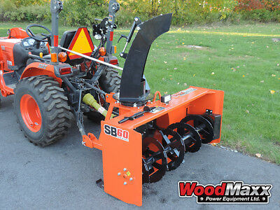 """WOODMAXX SB-60 PTO Snow Blower 59 """" (FREE SHIPPING to the lower 48 States)."""