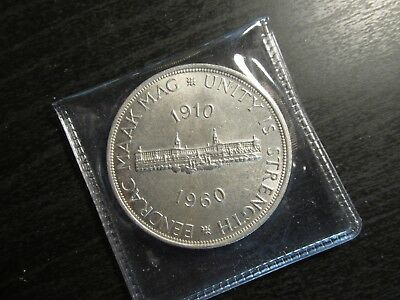 1960 South Africa Silver 5 Shilling Coin in BU Condition