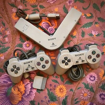 EXC 2 Original Sony PS1 OEM Controllers & Multi-Tap Playstation PS2 SCPH-1080