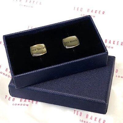 TED BAKER Cufflinks Mother of Pearl Abalone Silver Tone Cuff Links + Gift Box