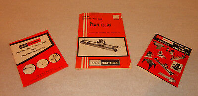 1970's SEARS CRAFTSMAN Literature Power Router Drill Bits