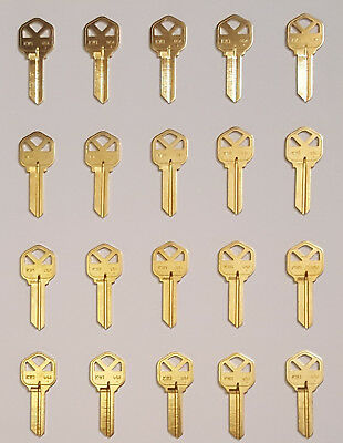 Key Blanks KW1 Kwikset Brass 2O PACK