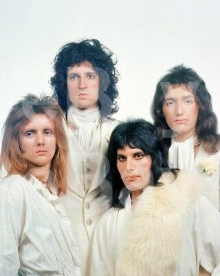 Queen Group Freddie Mercury, Roger Taylor,John Deacon, Brian May 10x8 Photo