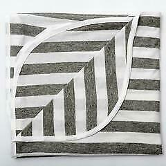 Lil' Fraser Baby Swaddle Wrap Bailey Grey & White Stripe Free Shipping