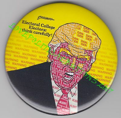 "DONALD TRUMP ""ELECTORAL COLLEGE THINK CAREFULLY"" WORD ART 3 IN. by GREENBURG"