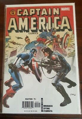 Captain America #14 Nm+ Winter Soldier Steve Epting Throwback Cover Dc Comics