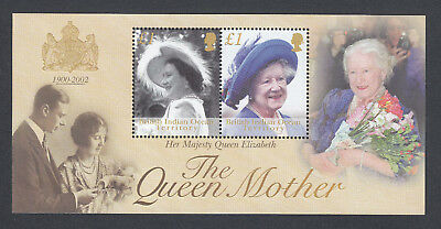 MNH Unused BIOT Brit Indian Ocean Stamp Mini Sheet Royaly Queen Mother 1900 2002