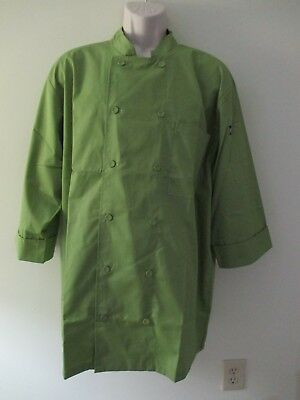 Nwts Unisex Chef Works 3/4 Sleeve Morocco Chef Coat Lime Green  Xl Model Jlcl