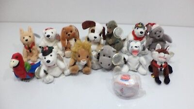 LOT OF 14 Coca Cola BRAND Bean Bag STUFFED ANIMALS Holiday Toys Coke Bottle Bear
