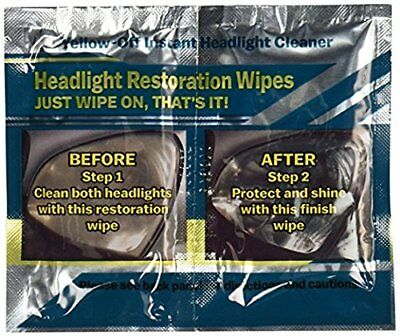 Headlight Cleaner Yellow-Off Instant Headlight Cleaner Wipes
