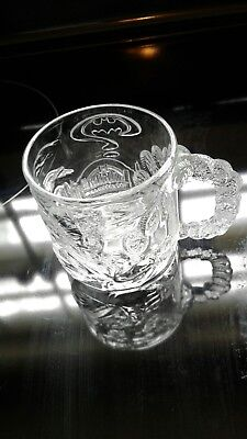 1997 McDonald's Collector Clear Glass Cup Two Face  From Batman Four Ever