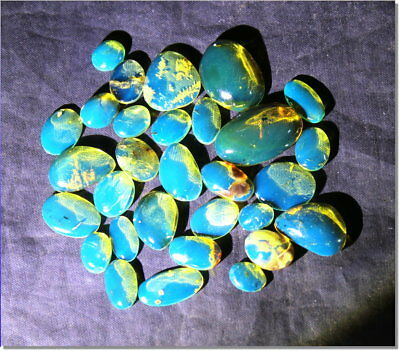 Wholesale lot 30 Dominican Clear Blue Amber Cabochons biggest 22mm insect fossil