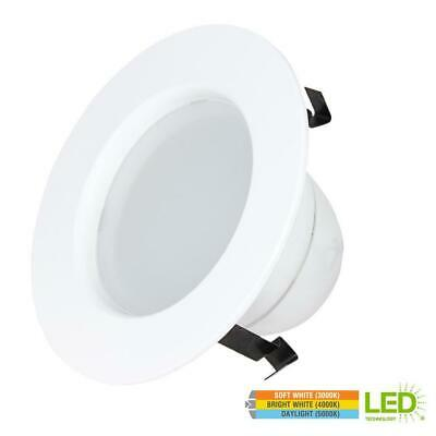 Commercial Electric 4 in. 9W Dimmable LED Recessed Retrofit Trim Downlight