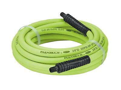 Flexzilla Air Hose, 3/8 in. x 25 ft, 1/4 in. MNPT Fittings, Heavy Duty, Light...