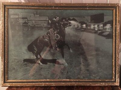 An Argument With The Town Marshall Frederic Remington 1906 Framed Litho Print