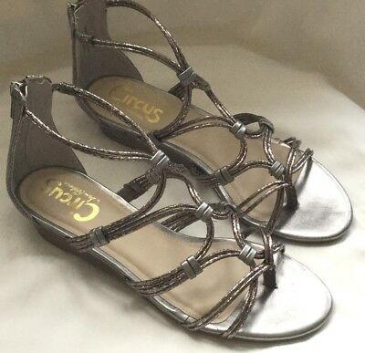 5fb3d0f9ed05f9 Circus by Sam Edelman Angel Sandal Pewter (Silver Gray) Size 7M NEW (no