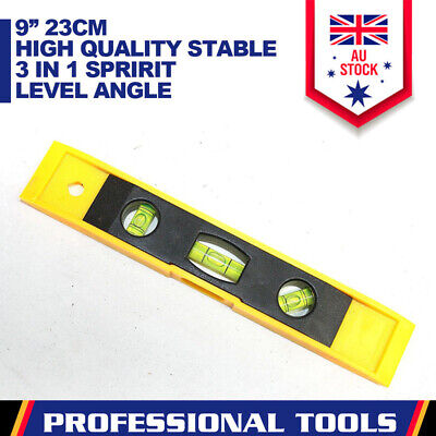 """9"""" Torpedo Spirit Level 3in1 Magnetic High Quality Ruler Stable Measure Tool"""