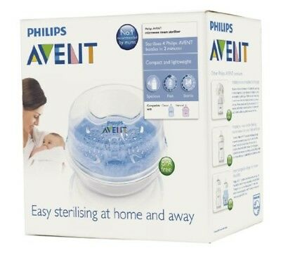 Original Microwave Baby Bottle Steriliser Steam Sterilizer By Philips AVENT