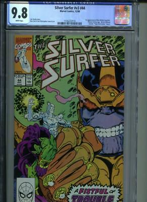 SILVER SURFER #44 CGC 9.8 1st Appearance Infinity Gauntlet Thanos Drax KEY Book!