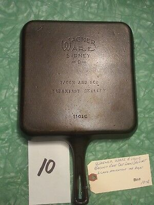 Vintage Wagner Ware Cast Iron Bacon and Egg Skillet #1101-C