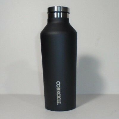 Corkcicle 9 oz Stainless Steel BPA Free Insulated Water Bottle Canteen Black