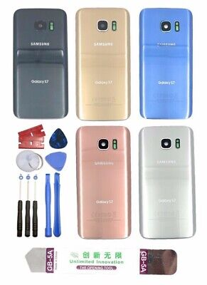 Samsung Galaxy S7/S7 Edge Back Glass Replacement Kit w Tool+Lens+Frame+Adhesive