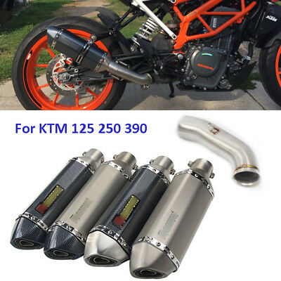 Slip Motorcycle Exhaust Muffler Mid Link Pipe for KTM DUKE 125 250 390 2017 2018