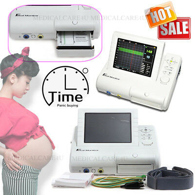 CMS800G Fetal Mother Monitor 24 Hours Fetal Movement Fetal Doppler Printer, CE