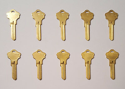 Key Blanks KW10 Kwikset Brass 10 PACK