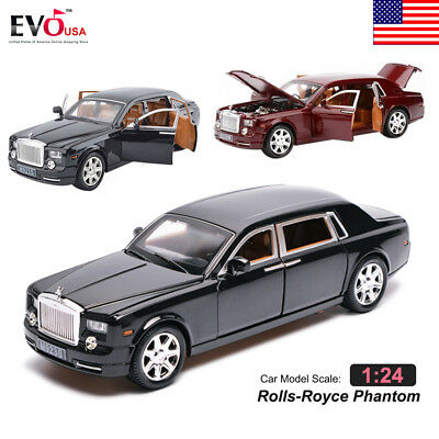 1:24 Rolls-Royce Phantom Alloy Diecast Car Model Sound Light Kids Toy Gift