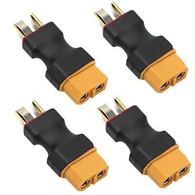 4x XT60 Female to Deans T Male Plug Connector No Wires Adapter f RC Lipo Battery