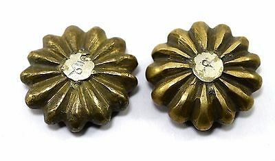 Pair Of Vintage Rare Collectible Melon Shape Solid Bronze Weight Scales. G15-136