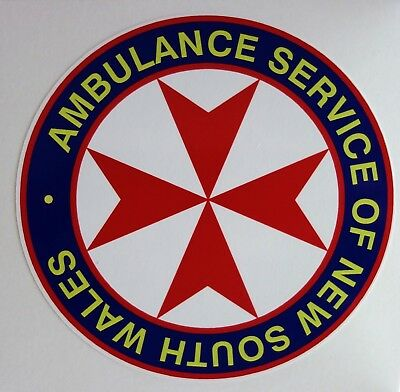 Obsolete Ambulance Service Of Nsw Sticker Decal