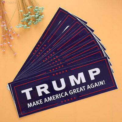 10Pcs Trump Make America Great Again Bumper Sticker Funny Fashion Laptop Truck