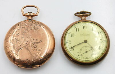 Vintage Lot Of 2 Admiral Hunter And Open Face Pocket Watches No Reserve
