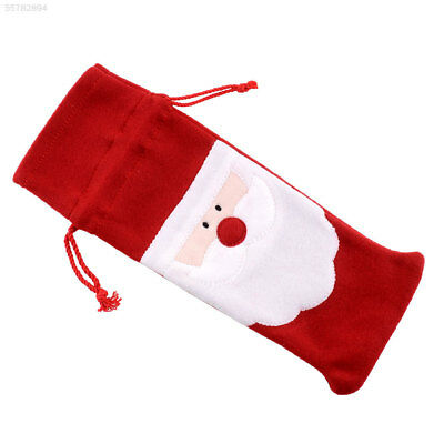 Red Christmas Santa Claus Wine Bottle Cover Dinner Table Decor Bags Ornament