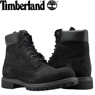 TIMBERLAND Men's 6-Inch Premium Waterproof Boots Original Iconic Shoes - Black